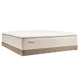 Posturepedic® Blue Meadow Plush Low-Profile Queen Mattress Set