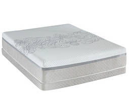 Posturepedic® Hybrid Encourage Plush Low-Profile Queen Mattress Set