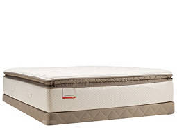 Posturepedic® Blue Meadow Plush Euro Pillowtop Low-Profile Twin Mattress Set