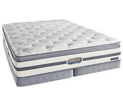 Beautyrest® Recharge™ Pierpont Pillowtop Low-Profile Split Queen Mattress Set