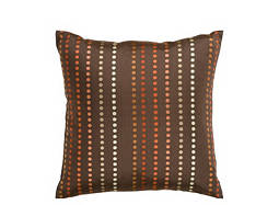 Polka Dot-Patterned Chocolate Throw Pillow