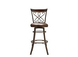 Randi Leather Swivel Bar Stool