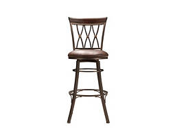 Jolee Leather Swivel Bar Stool