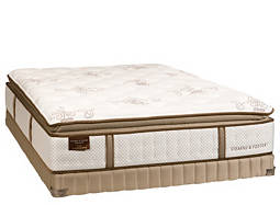 Estate Monika Luxury-Plush Pillowtop Low-Profile Queen Mattress Set