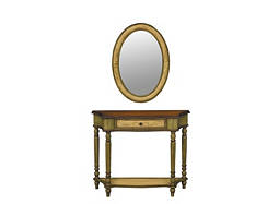 2-pc. Console Table and Mirror Set