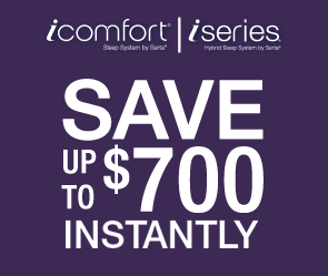 Save Up To $700 Instantly on Serta iComfort and iSeries
