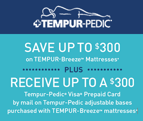 Save Up To $300 on Tempur-Breeze Mattresses