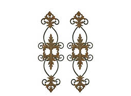 Lacole Distressed Metal Wall Decor: Set of 2
