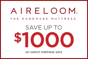 Save up to $1000 on select Aireloom mattresses