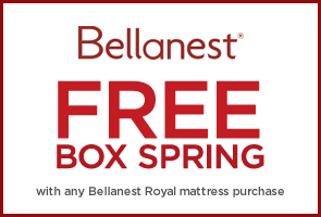 Free Box Spring with any Bellanest Royal mattress purchase
