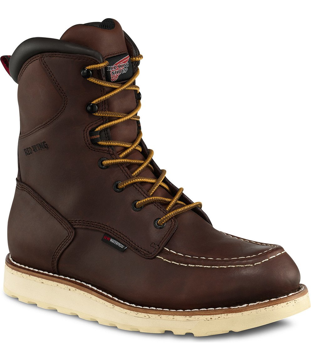 Red Wing Safety Boots - 411 Red Wing Men&39s - 8-inch Boot Brown