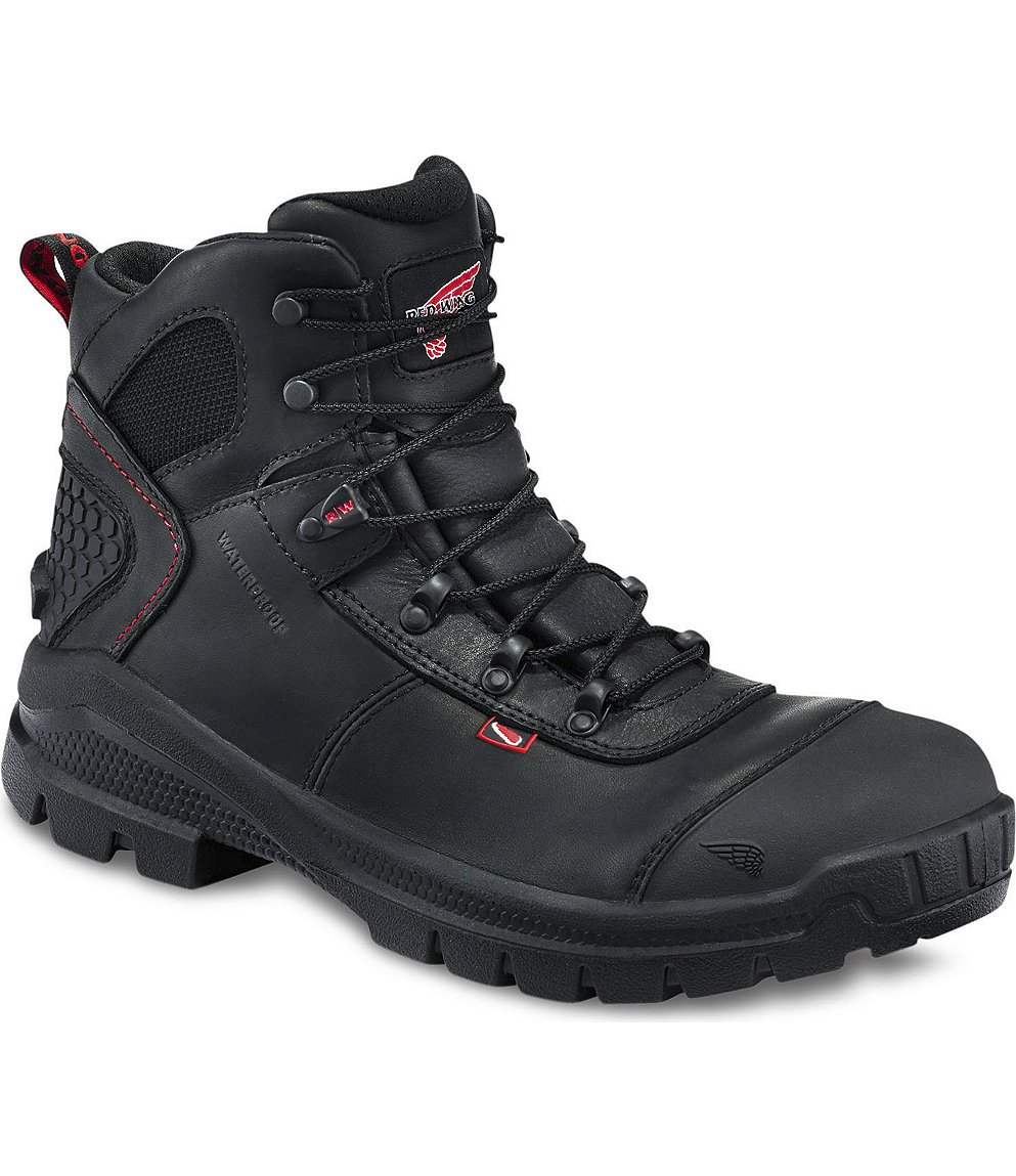 Red Wing Safety Boots - 423 Red Wing Men's - 6-inch Boot Black