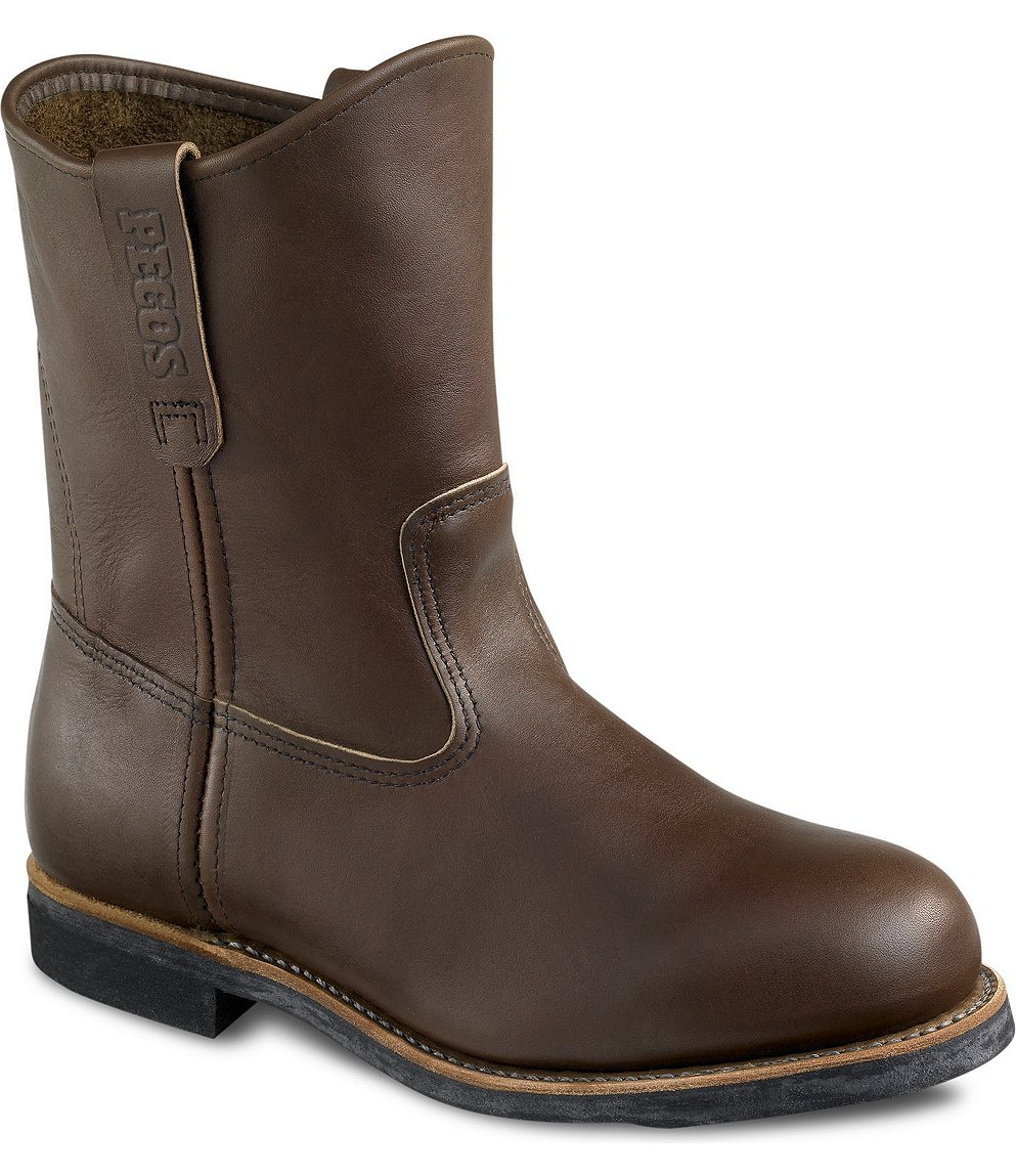 Red Wing Safety Boots - 966 Red Wing Men&39s - 9-inch Pull-On Brown