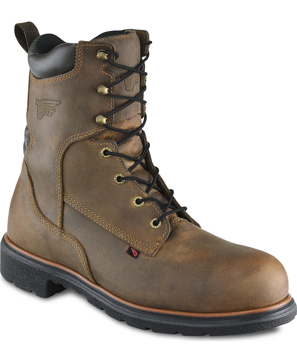 Red Wing Safety Boots - 2203 Red Wing Men's - 8-inch Boot Brown