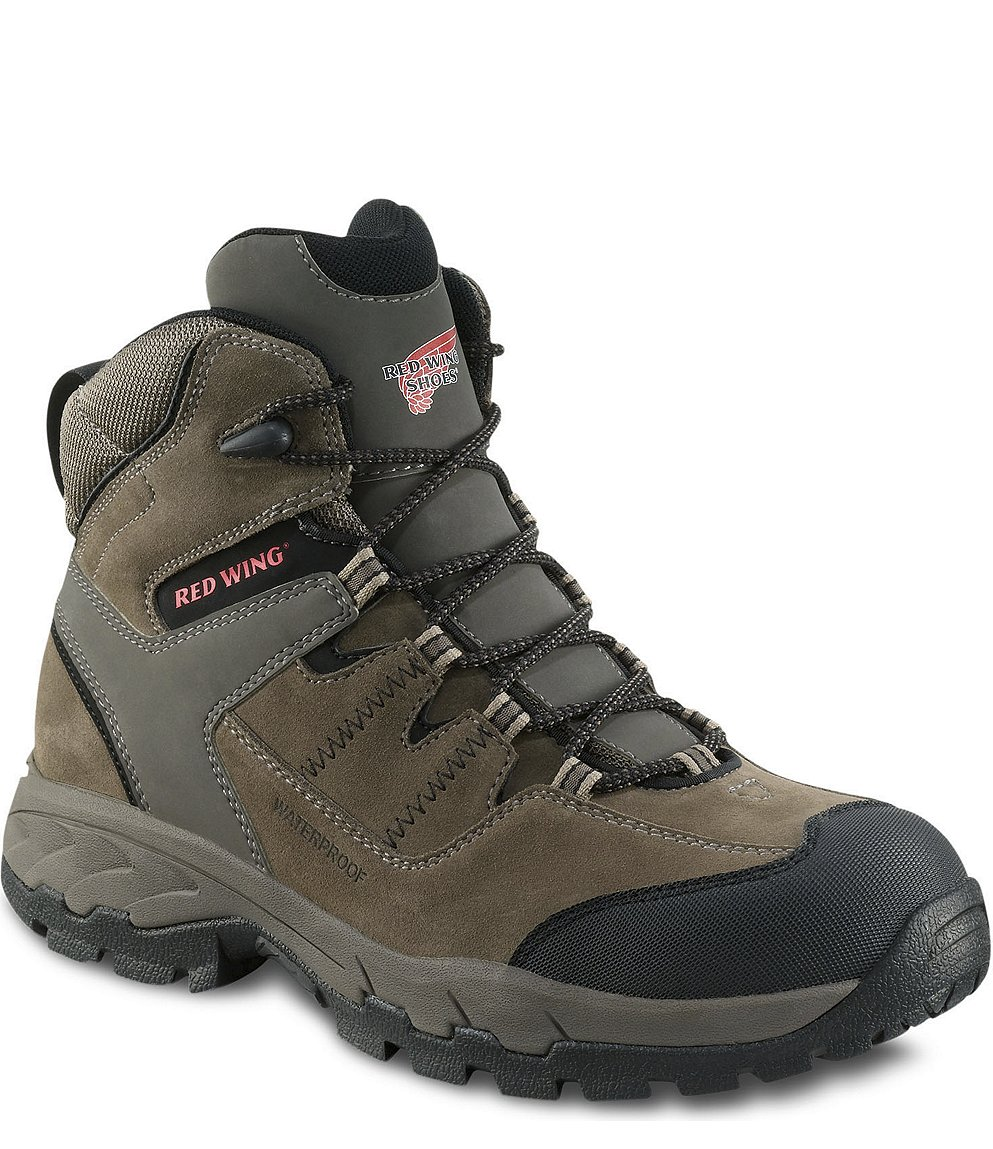Red Wing Safety Boots - 6670 Red Wing Men's - 6-inch Hiker Boot Gray