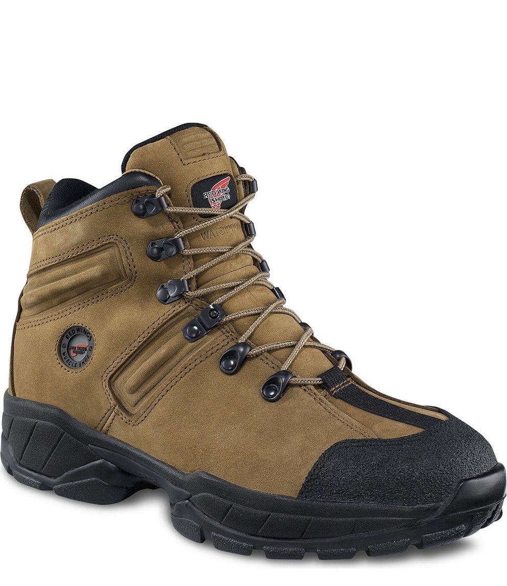 Red Wing Safety Boots - 6682 Red Wing Men's - 5-inch Hiker Boot Tan