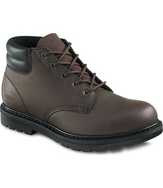 Red Wing Safety Boots - 8295 WORX Menu0026#39;s - 5-inch Boot Brown