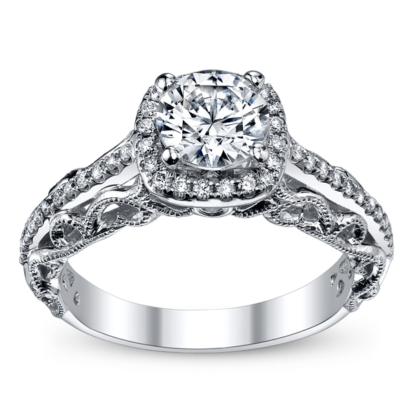 peter lam royal lace 14k white gold diamond engagement With peter lam wedding rings
