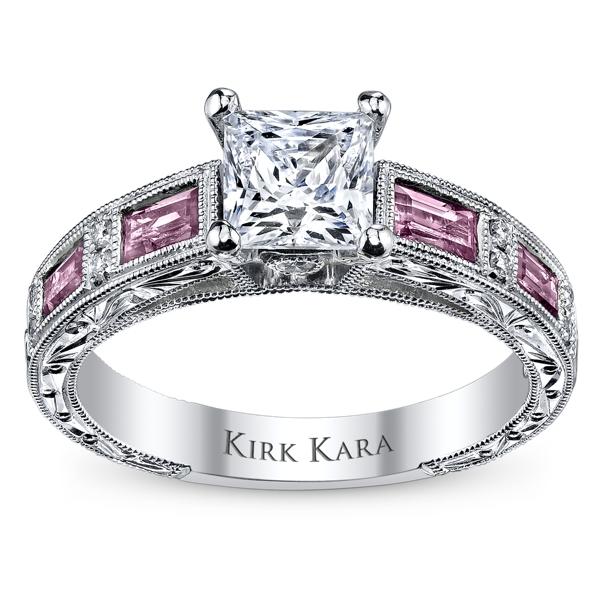 ... Diamond and Pink Sapphire Engagement Ring Setting. Slide 5. Slide 1