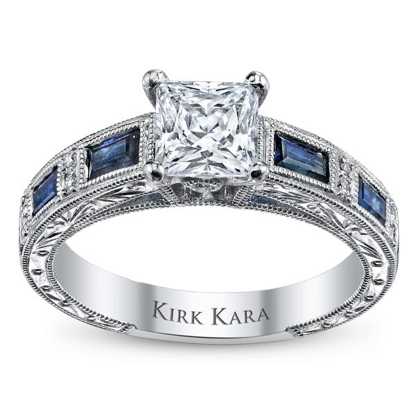 ... Diamond and Blue Sapphire Engagement Ring Setting. Slide 5. Slide 1