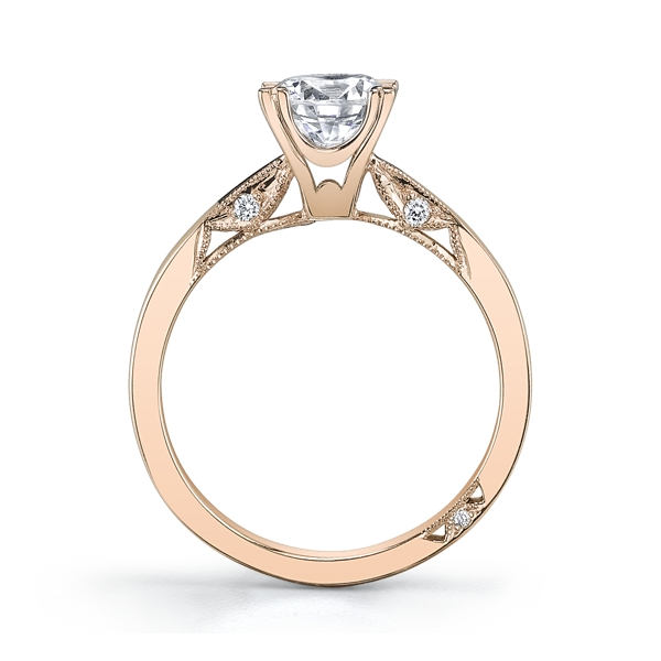 Luxury Tacori Rose Gold Engagement Ring
