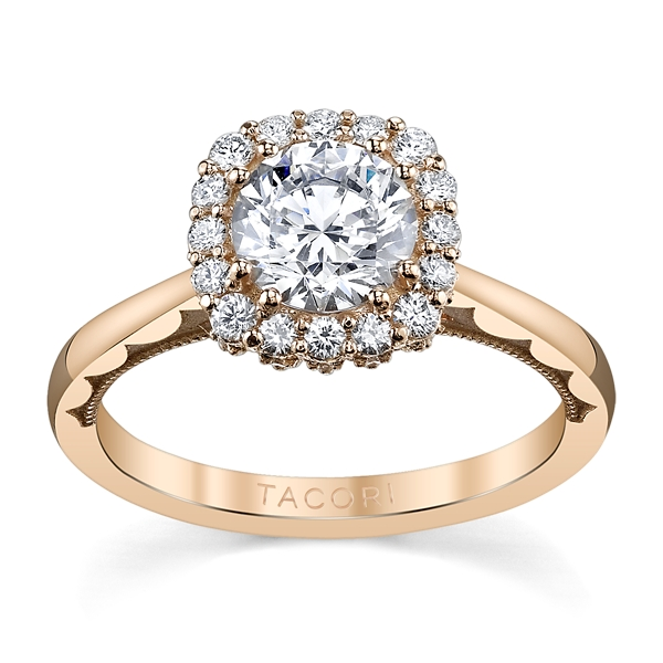 Tacori 18K Rose Gold Diamond Engagement Ring Setting