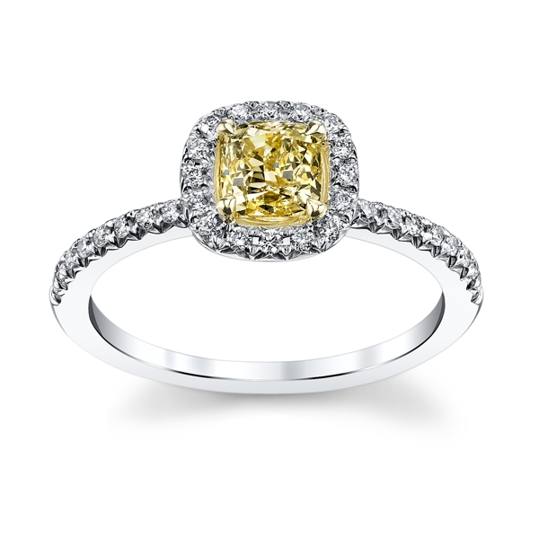 And Yellow Gold Yellow Diamond Engagement Ring 1 Carat Total Weight