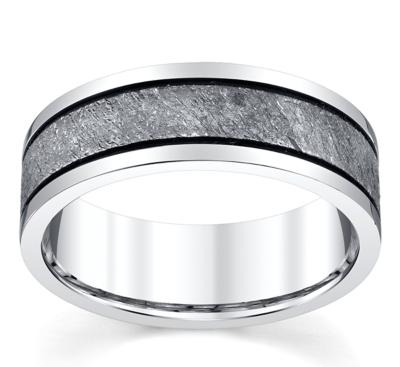 lashbrook cobalt and meteorite 75mm wedding band - Cobalt Wedding Rings