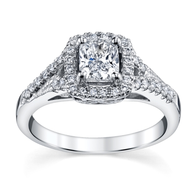 Candlelight 14K White Gold Engagement Ring 1 Cttw.