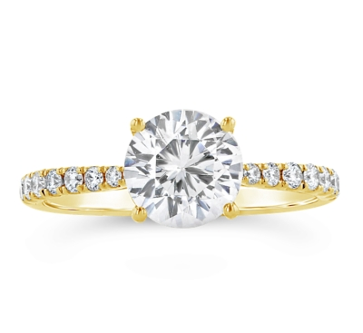 A. Jaffe 14K Yellow Gold Engagement Ring Setting 1/4 Cttw.