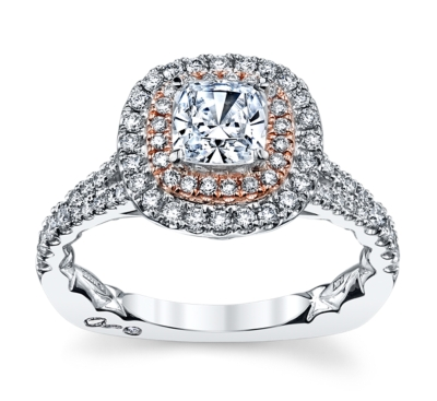 A. Jaffe 14K White And Rose Gold Engagement Ring Setting 1/2 Cttw.