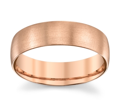 14k rose gold 61mm mens wedding band - Mens Rose Gold Wedding Rings