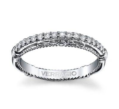 verragio 14k white gold diamond wedding band 15 cttw - White Gold Diamond Wedding Rings