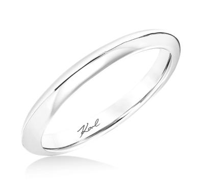 karl lagerfeld 18k white gold wedding band - Modern Wedding Rings