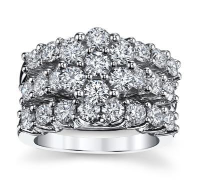 cherish 14k white gold diamond wedding set 4 cttw - Wedding Set Rings
