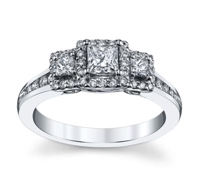 Designer Three Stone Rings Engagement Rings at Robbins Brothers