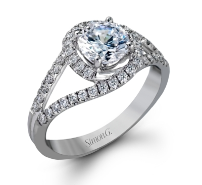 simon g 18k white gold diamond engagement ring setting 13 cttw