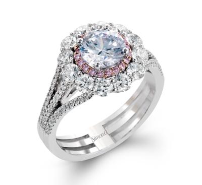 simon g 18k two tone diamond engagement ring setting 1 14 cttw