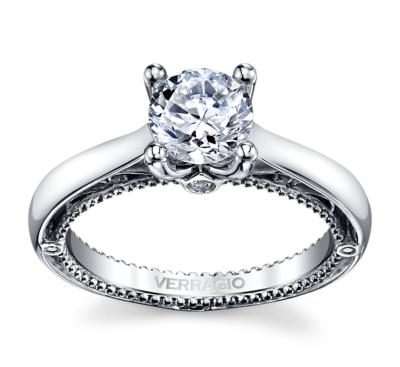 Verragio 18k White Gold Diamond Engagement Ring Setting .04 cttw