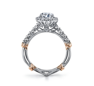 ... Verragio 14K Two Tone Diamond Engagement Ring Setting 5/8 cttw