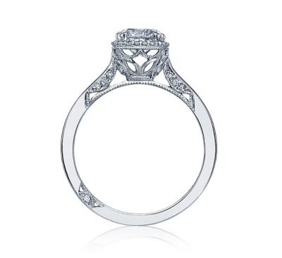 ... Tacori Platinum Diamond Engagement Ring Setting 1/10 cttw