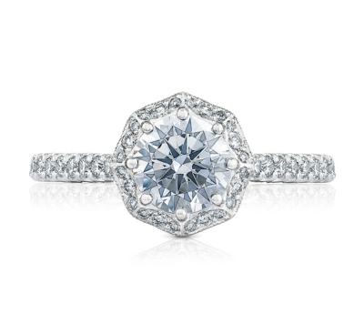 Tacori Platinum Diamond Engagement Ring Setting 1/2 cttw
