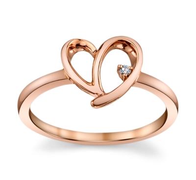 cherish 10k rose gold promise ring 01 cttw - Classic Wedding Rings