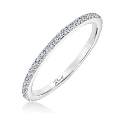 karl lagerfeld 18k white gold diamond wedding band 15 cttw - Ladies Wedding Rings