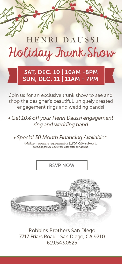 Henri Daussi Holiday Trunk Show