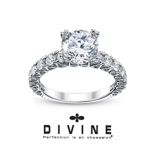 each engagement ring and wedding band in the divine collection is handcrafted by a design team at their in house studios in new york read more