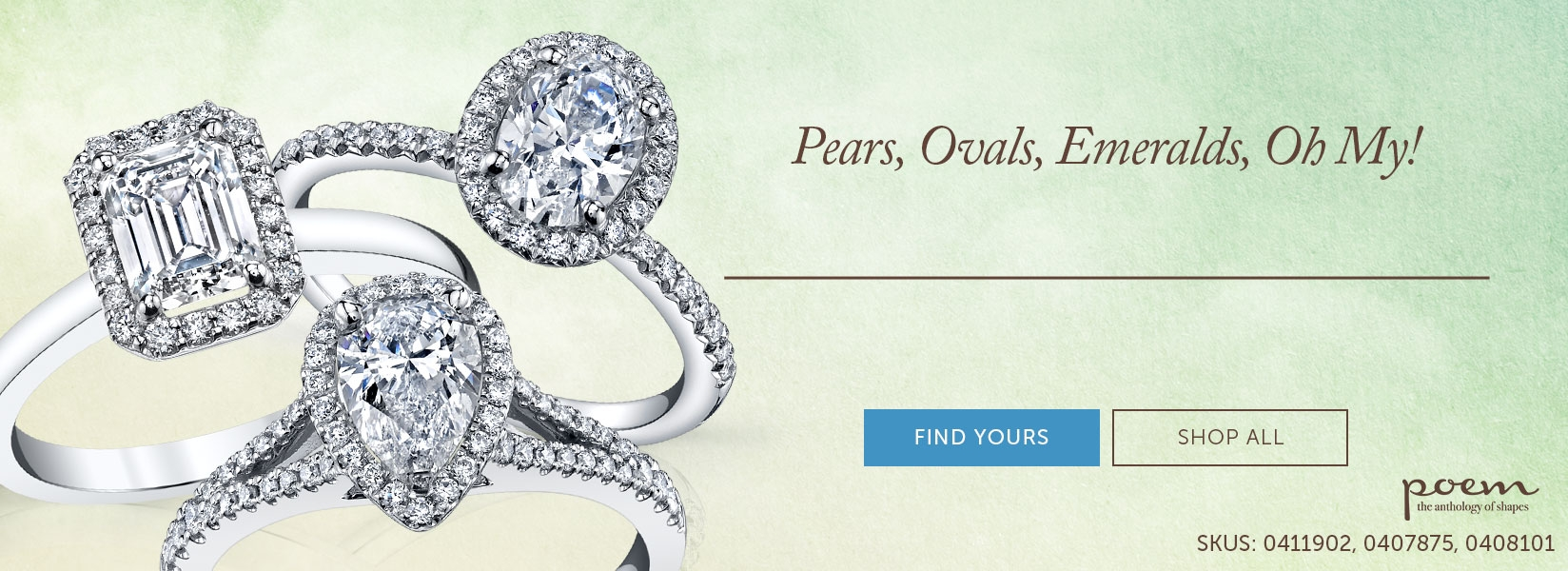 Pears, Ovals, Emeralds Ring