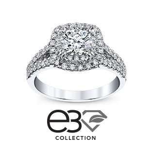 features our brilliantly beautiful exclusive e3 lab grown diamond in a collection of 14k recycled gold engagement rings wedding bands and fashion - Engagement Rings With Wedding Band
