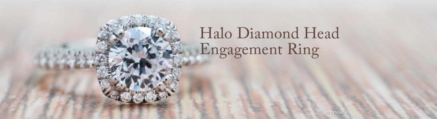 Halo Head Diamond Engagement Rings
