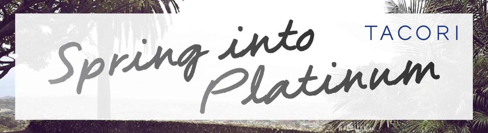 Tacori Spring Platinum Sale